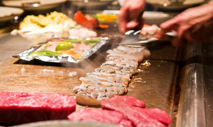Arashi Teppan Steak & Sushi - Murrieta: $22 for $40 Worth of Sushi or Hibachi for Two at Arashi Teppan Steak & Sushi