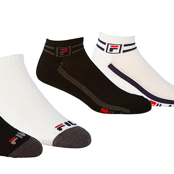 Fila 6 Pack of Men's Moisture Wicking No Show Socks