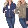Women's Bomber Jacket. Plus Sizes Available.