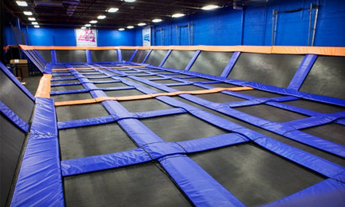 SkyMania! Trampolines - Totem Lake: Trampoline Sessions or Weekend Events at SkyMania! Trampolines in Kirkland (Up to 55% Off). Four Options Available.