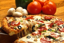 D'cardi Pizza: One Appetizer or Salad with Purchase of 2 Large Pizzas (Any Topping)  at D'cardi Pizza