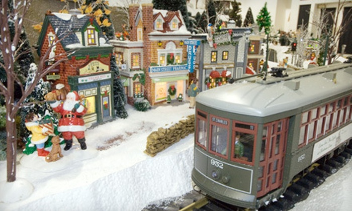 EnterTRAINment Junction - West Chester: Holiday-Themed Model-Train Outing for Two or Four at EnterTrainment Junction (Up to 56% Off)