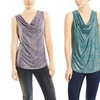 Tractr Jeans Sleeveless Cowl Neck Tank