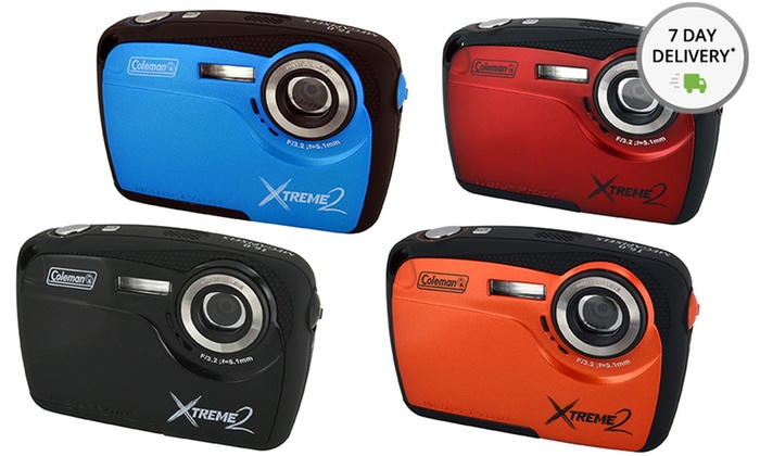 Coleman Xtreme2 16MP HD Waterproof Camera (C12WP): Coleman Xtreme2 16MP HD Waterproof Camera (C12WP). Multiple Colors Available. Free Returns.