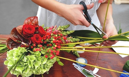 $69 for a Two-Hour Seasonal Flower-Arranging Workshop at Vivio Flower Gallery ($150 Value)