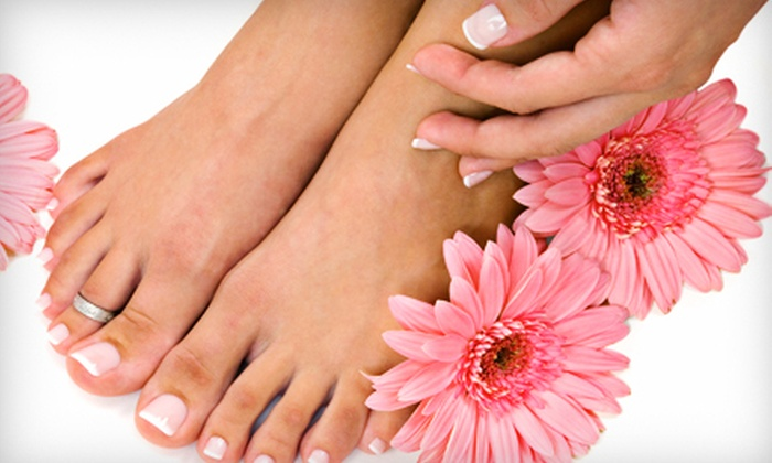 Pink Lime Salon & Spa - Downtown: Mani-Pedi or $25 for $50 Worth of Salon and Spa Services at Pink Lime Salon & Spa