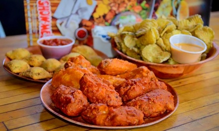 $15 for Sandwiches for Two with Appetizer or Eight Wings at Show-Me's ($28 Value)