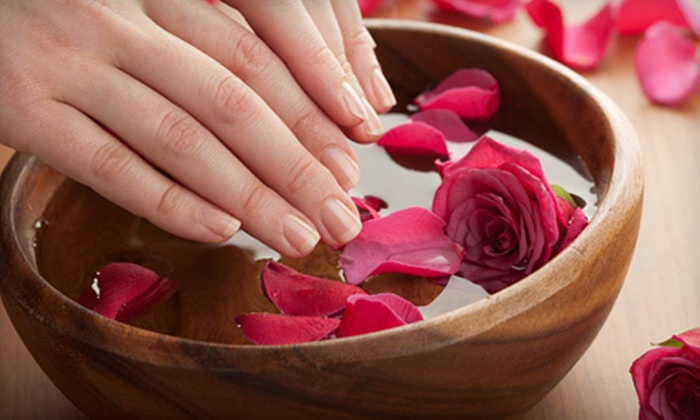 Lo-Ann Nails - Hughes Acres: One or Two Spa Mani-Pedis with Hot-Rock and Paraffin Treatments at Lo-Ann Nails (Up to 53% Off)