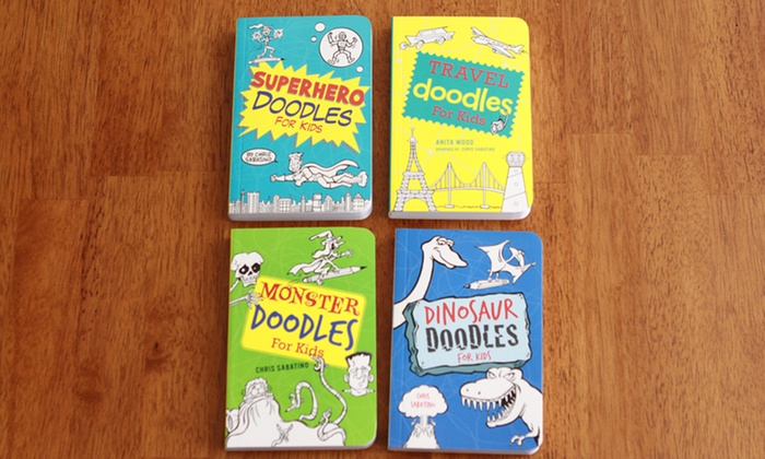 Kids' 4-Book Doodle Bundle: Kids' 4-Book Doodle Bundle. Free Shipping.
