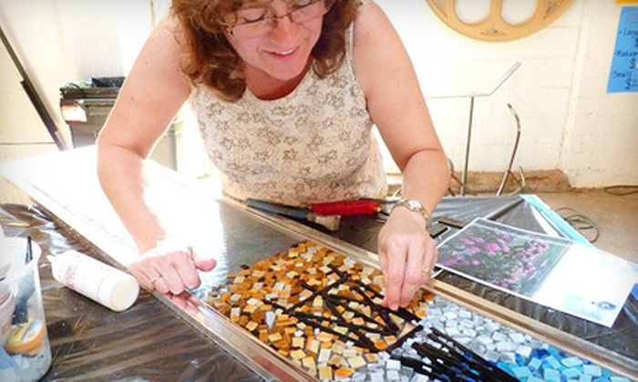GlassyAlley Art Studio & Gallery - Lubbock: Glass-Mosaic Class for Two or Four at Glassy Alley Art Studio & Gallery (Up to 63% Off)