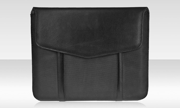 Two-Pack of Leather Tablet Sleeves with Pocket: $6.99 for a Two-Pack of Leather Tablet Sleeveswith Faux Suede Lining ($79.98 List Price). Free Returns.