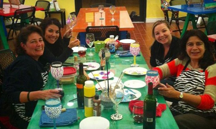 Crazy Picasso - South Side: BYOB Wine-Glass-Painting Class for One or Two at Crazy Picasso (53% Off)