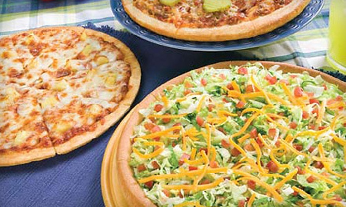 Godfather's Pizza - San Jacinto: $10 for Large Two-Topping Pizza and Breadsticks at Godfather's Pizza ($20.48 Value)
