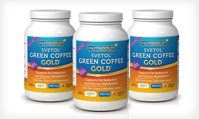 Green Coffee-Bean Gold with Svetol: One, Two, or Three Bottles of Nutrigold Svetol Green-Coffee-Bean Extract (Up to 75% Off). Free Shipping.