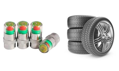 4 tapones avisadores de presión para neumáticos