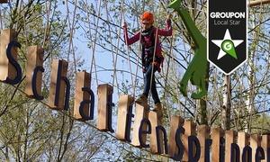 Schattenspringer: 3 Stunden Klettern im Hochseilgarten HanseRock inklusive Einweisung und Leih-Ausrüstung von Schattenspringer ab 12,90 €