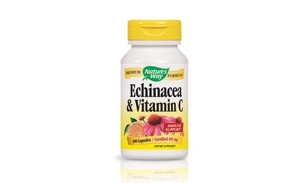 Nature's Way Echinacea-Vitamin C Immune System Supplement (1- or 3-Pack, 100 Count Each)