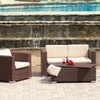 Westlake Brown Wicker Outdoor Sofa Set (4-Piece)