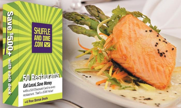 ShuffleandDine.com: $30 for a Jacksonville Restaurants Gift-Card Deck from ShuffleandDine.com ($59.99 Value)
