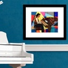 "23""x19"" Framed Contemporary Art Prints"