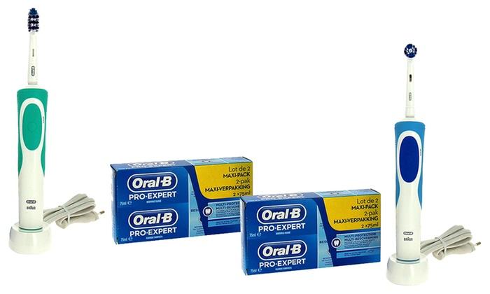 Brosse à dents électrique Oral-B avec dentifrices Pro-expert ... 0d3bf27e74bb