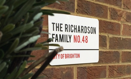 Personalised London-Style House Sign from £8.99 With Free Delivery (Up to 55% Off)