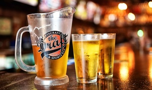 The Draft Oceanside: $18 for Burgers, Fries, and Craft Beer for Two at The Draft Oceanside (Up to $36 Value)