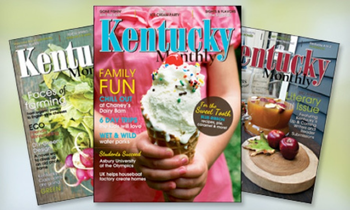 """""""Kentucky Monthly"""" - Lexington: $10 for a One-Year """"Kentucky Monthly"""" Magazine Subscription (Up to $20 Value)"""