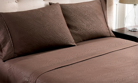 Hotel New York Microfiber Embossed Sheet Set as low as $19.99 Shipped