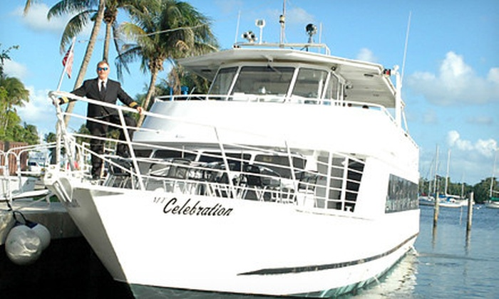 "Tropical Bay Brunch Cruise on the Yacht ""Celebration"" - Dinner Key Marina, Coconut Grove: $36 for Brunch or Barbecue Dinner Yacht Cruise on the ""Celebration"" from Tropical Bay Brunch Cruise ($72.50 Value)"