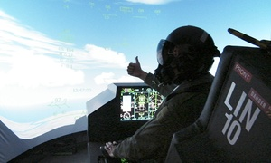 Flight Sim Centre: 30- or 60-minute Fighter Pilot Simulator Experience for One or Two at Flight Sim Centre (Up to 31% Off)