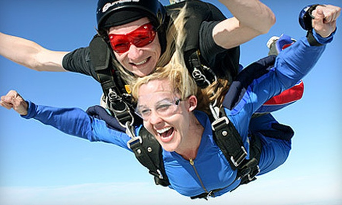 Skydive Spaceland - Rosharon: Tandem Skydive Jump for One, Two, or Four at Skydive Spaceland in Rosharon (Up to 45% Off)