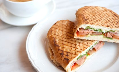 image for Choice of Sandwich or Panini with Hot Drink for Up to Four People (Up to 31% Off)