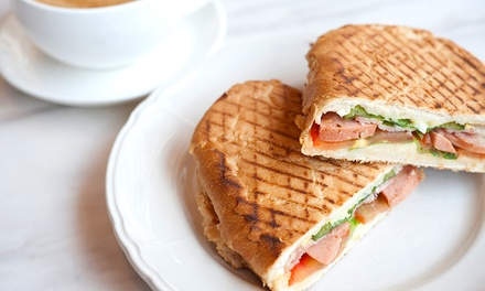 Sandwich or Panini with Hot Drink