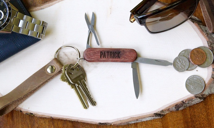 The Plaid Barn: One or Two Personalized Pocket Knives from The Plaid Barn (Up to 66% Off)