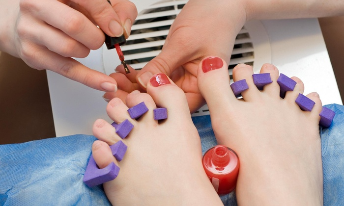 Nails By Renee - Advanced Hair Specialists: A Spa Manicure and Pedicure from Nails by Renee (55% Off)