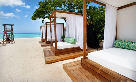 groupon daily deal - 3-, 4-, or 5-Night Stay for Two with Daily Breakfast at Sandy Haven Resort in Negril, Jamaica. Combine Up to 10 Nights.
