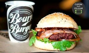 Bourn Burger: Bourn Burger - Lapa: hambúrguer + batatas fritas + refil + brownie