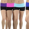 Women's Fold-Over Elastic Waist Active Shorts (5-Pack)