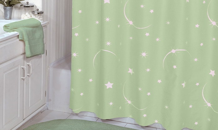 Curtain 75x72 Stellar Glow In The Dark Shower