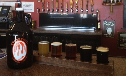 $18 for a Brewery Package with Samplers, Growler, and Growler Fill at White Flame Brewing Co. ($30 Value)