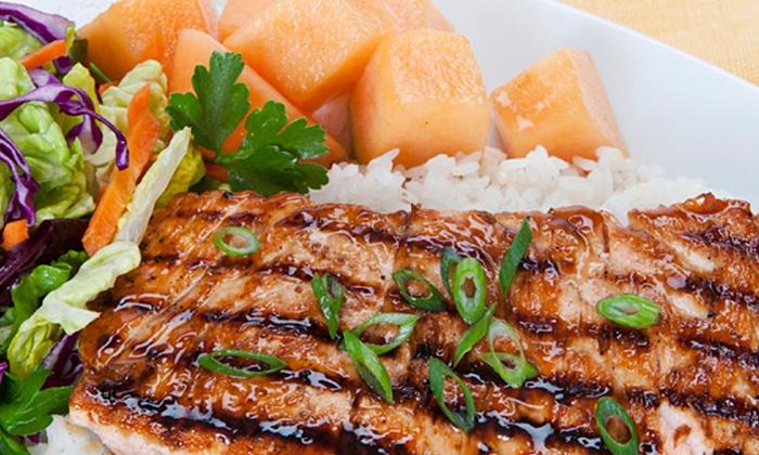 Waba Grill - Multiple Locations: Healthy Teriyaki Food at WaBa Grill Temecula (40% Off)