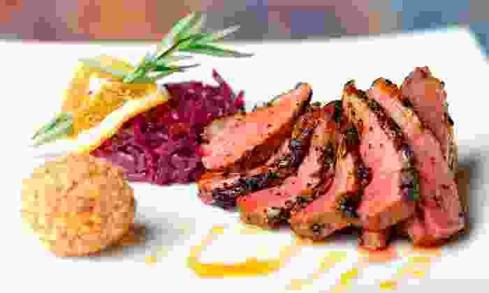 La Riviera Restaurant - Bryan/ College Station: Upscale Global Cuisine Lunch or Dinner for Two or Four at La Riviera Restaurant (Up to 46% Off)