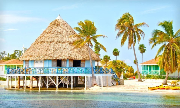 Blackbird Caye Resort - Turneffe Atoll, Belize: Four- or Seven-Night Cabana Stay with Meals and Two Diving or Snorkeling Trips at Blackbird Caye Resort in Belize