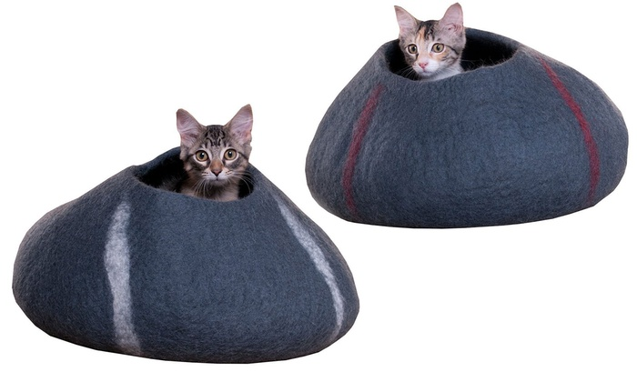 Purrfect Feline Handmade In Nepal Wool Cocoon Cat Bed: Purrfect Feline  Handmade In Nepal Wool ...