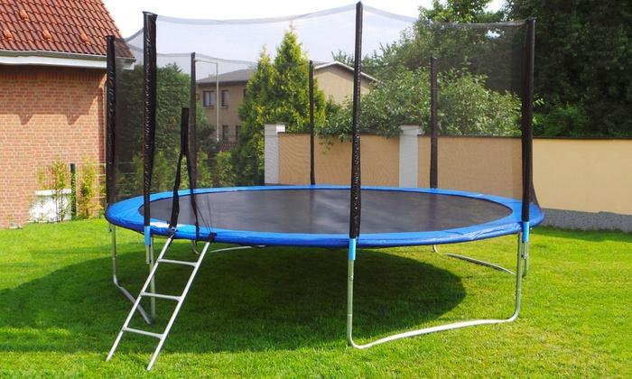 trampolines 250 430cm chelle groupon. Black Bedroom Furniture Sets. Home Design Ideas