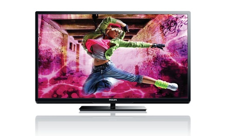 "groupon daily deal - Philips 46"" LED 1080p 120Hz Smart HDTV (Refurbished)"