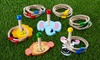 Jungle Animals Wooden Ring-Toss Game: Jungle Animals Wooden Ring-Toss Game