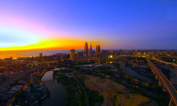 Mcguckin Aerial Photography - Cleveland: 60-Minute Outdoor Photo Shoot with Retouched Digital Images from McGuckin Aerial Photography (30% Off)
