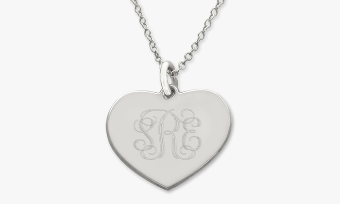 ShopOnlineDeals: Personalized Silver Heart Pendant or Necklace or Silver Link Chain from ShopOnlineDeals (Up to 92% Off)